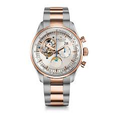 zenith watches watch watchdog zenith chronomaster grande date automatic silver skeletal dial mens watch 512160404701m2160
