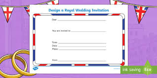 Royal Wedding Invitation Writing Template Prince Harry Meghan