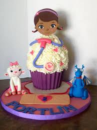 Doc Mcstuffins Giant Birthday Cupcake Byrdie Girl Custom Cakes