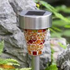 Solar Glass Mosaic Jar Rechargeable Battery LED Garden Lights Solar Mosaic Garden Lights