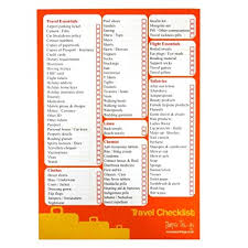 Vacation Checklist Amazon Com A5 Travel Vacation Checklist And Planner 50