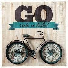 >go ride a bike bicycle wall art bike wall decor with basket go ride  go ride a bike bicycle wall art bike wall decor with basket go ride a bike