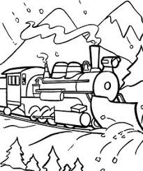 Fabulous Polar Express Train Coloring Pages Coloring Page And