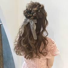 リボン編み込みで簡単長さ別髪型別ヘアアレンジ Hair