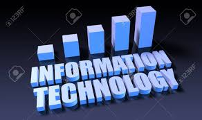 Information Technology Chart Information Technology Graph Chart In 3d On Blue And Black