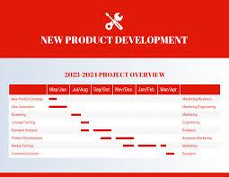 Gantt Chart Colors Red New Product Project Gantt Chart Template