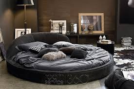 Jazz Round Leather Bed by Gamma Arredamenti
