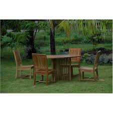mission round table rialto dining chair anderson teak image for gallery