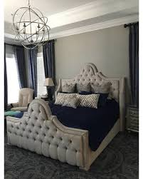 New Deals on Wingback Tufted Headboard Bed Frame Upholstered Crystal ...