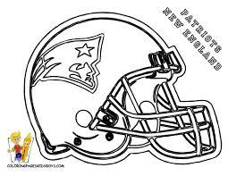 coloring sheet detail name football helmet patriots