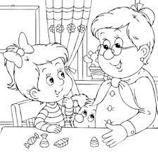 Oma Met Kleinkind Kleurplaat