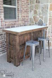 endearing diy outdoor bar table with diy tiled bar free plans and a giveaway shanty 2