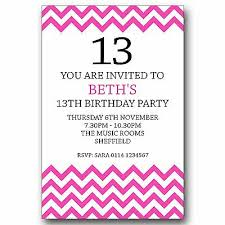 13th Party Invitations Personalised Boys Girls Teenager 13th Birthday Party Invitations Invites T058 Ebay
