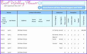 Examples Wedding Guest Template Excel Tavjh Best Of Beautiful ...