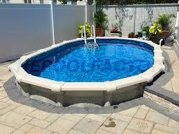 semi inground pool ideas. Hampton Oval Semi Inground Pool Ideas D