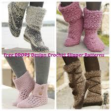 Free Crochet Slipper Patterns Enchanting DROPS Design Free Crochet Slipper Patterns Wee Folk Art