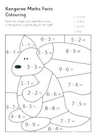 addition and subtraction coloring sheets worksheets math color in to pages printable subtract