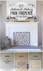 diy faux fireplace blesser house featured on remodelaholic buildit tutorial