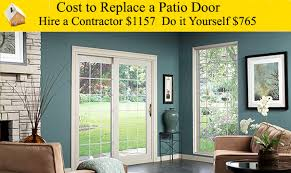 cost to replace a sliding patio door