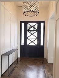 gorgeous front hall door light fixture love the black and white entry stairsentry hallwayfoyer