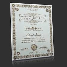Employee Of The Quarter Certificate Employee Of The Quarter Month Oyster White Engraved