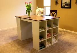 Natural Bathroom How To Build This Arts With Storage Counter Height For Crafts  Table Craft Tablescounter