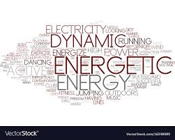 Energetic Word Cloud Concept