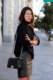 Beautiful, Black Quilted Leathers Skirts & Annabelle Fleur of Viva Luxury_quilted_faux_leather_skirt Adamdwight.com