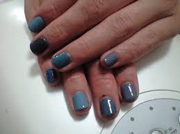 ネイルデザイン 青5色カラーネイル