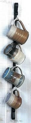 mug rack coffee mug wall rack metal expanding mug rack wall
