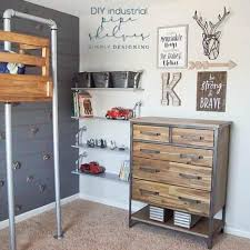 industrial diy furniture. How To Make Industrial Pipe Shelves Diy Furniture