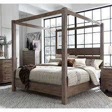 Modern Rustic Brown Queen Canopy Bed - Sonoma Road | RC Willey ...