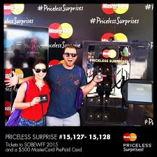 Mastercard Priceless Surprises Vending Machine Fascinating Tickets To SoBeWFF 48 And 48 MasterCard Prepaid Card From The