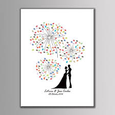 diy large size 60x80cm wedding party decorative canvas painting fingerprint tree signature guest books anniversary gift ink pad