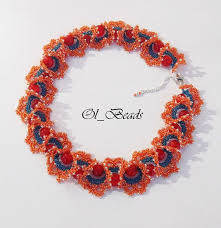 <b>Seed Bead Necklace</b>, Ogalala Lace Necklace, Beaded Ruffle ...