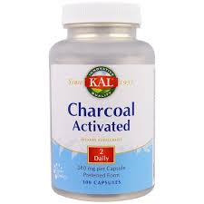<b>Активированный уголь</b>, Charcoal <b>Activated</b>, Kal, <b>280 мг</b>, 100 капсул ...