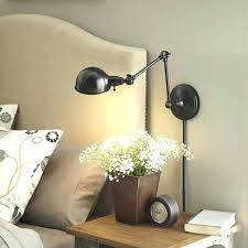 light wall lamps for bedroom h bronze swing arm mounted lamp with metal shade at