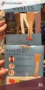 Assets Shapewear Size Chart Brand New Assets Pantyhose Assets By Sarah Blakely Size 2