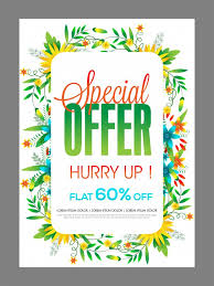 Special Offer Sale Poster Banner Or Flyer Design Decorated