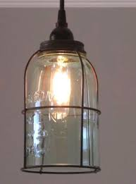 Rust Cage Half Gallon Mason Jar Pendant Light  Out of the Woodwork Designs