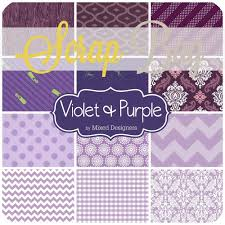 Moda Fabric Designers United Notions Purple Scrap Bag Approx 2 Yards By Mixed Designers Moda Diy Quilt Fabric