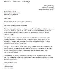 Free Sample Of Motivation Letter Format Motivation Letter