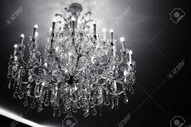 Luxury Crystal Chandelier Vintage Style As Black And White Concept