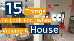15 Things To Look For When Viewing A House - YouTube