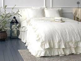 image 0 white ruffle duvet cover linen ivory comforter white ruffle duvets duvet cover