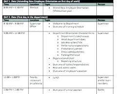 Training Programme Schedule Format Training Schedule Template Template Business Training Work