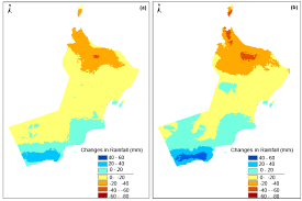 Muscat Climate Chart Projection Of Future Changes In Rainfall And Temperature