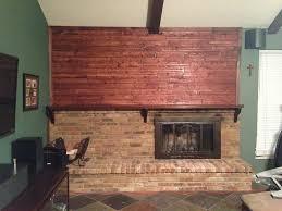 diy stain fireplace brick
