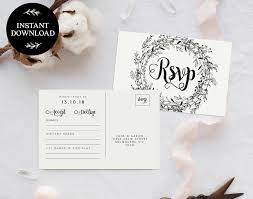 wedding rsvp postcards templates rsvp postcard template instant download editable pdf rsvp cards