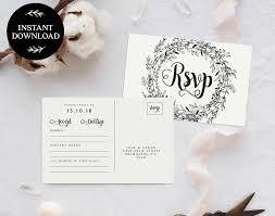 wedding rsvp postcards templates rsvp postcard template instant download editable pdf rsvp cards